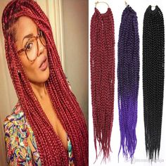Crochet Braid Hair Extension 18inch Amaze Burgundy Ombre African Box Hair Jumbo Ombre Synthetic Braiding Long Straight Hair Extensions Grizzly Feather Hair Extensions Peacock Feather Hair Extensions From Debaja, $17.44| Dhgate.Com