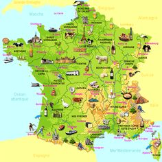 Map of France with Cities | Map of France by food
