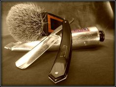Shave prep: Face wash Brush: Custom 28mm silvertip in wood and horn Soap: L'Occitane Cade SHave Cream Scuttle: Robert Becker large Razor...
