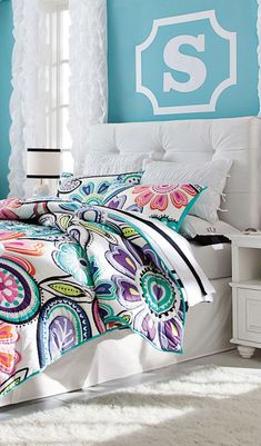 Kennedy Paisley Quilt #girls rooms