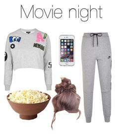 """""""Movie with the boys🍿"""" by onedirection-fanfictionclothing ❤ liked on Polyvore featuring Topshop, Speck and NIKE"""