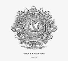 Province, a small Russian design firm, recently created the identity for Anna & Marina, a new Russian luxury clothing brand.