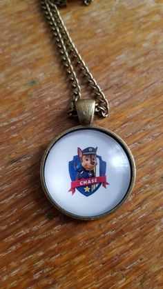 Chase Paw Patrol Necklace by AwesomeOddities on Etsy