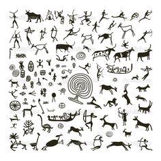 наскальные рисунки индейцев - Google Search