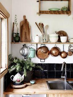Decorar la cocina con tablas de madera