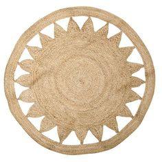 Matta STARRY. Ø100 cm. Handgjord matta i jute.