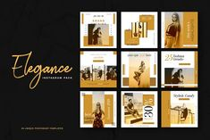 Elegance Instagram Pack by Cairographs on @creativemarket