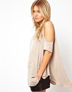 ASOS Tunic With Cold Shoulder-adorable with leggings =)