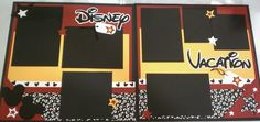 Disney Scrapbook Page for our honeymoon !