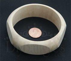 Diy Bangles unfinished wood bangle bracelet Size by DiyBangles, $3.99