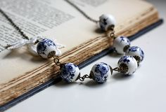 Summer Necklace. Porcelain and Lace by Dreamy Vintage, via Flickr