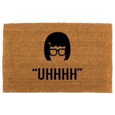 the Tina Belcher doormat  funny doormats  by theCHEEKYdoormat