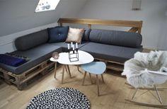 fabriquer un canapé d'angle en palettes de bois - une idée pratique et élégante
