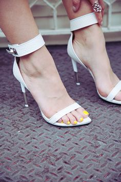 Givenchy Snake Sandals... Pity about the dreadful yellow polish!