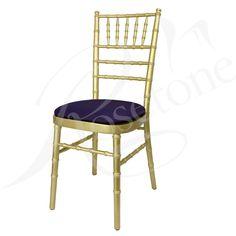 Gold Chiavari with Purple Seat Pad. Popular Gold Wedding Chair Purple Theme