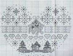 ru / Foto # 77 - Cuori - Anapa-mama 1 of 2 Xmas Cross Stitch, Cross Stitch Heart, Cross Stitch Samplers, Cross Stitching, Cross Stitch Embroidery, Embroidery Patterns, Cross Stitch Designs, Cross Stitch Patterns, Theme Noel