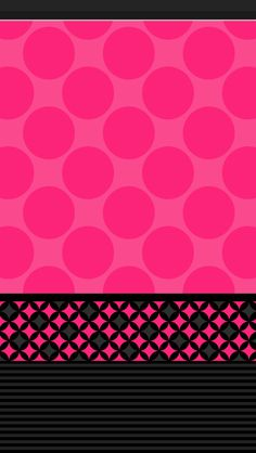 Dots Pink N Black Find This Pin And More On Cellphone Wallpaper