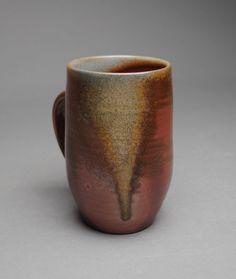Wood fired mug by John McCoy Pottery. www.JohnMcCoyPottery.etsy.com