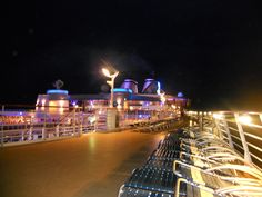 Oasis Of The Seas ~ Royal cruise Line. Upper deck cleared- preparing for Hurricane Sandy - photo by Lorri
