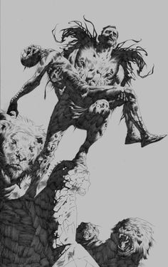 Jae Lee Spider-man Kraven Commission, in Mark Hay's Personal Collection Comic Art Gallery Room Comic Book Artists, Comic Artist, Comic Books Art, Black And White Comics, Black And White Drawing, Kraven The Hunter, Jae Lee, Marvel Comics Art, Image Comics