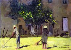 La cascina - Silvio Santagostino (Mortara  1884-1971)