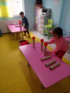 Great use of tubes and all those balls from ball pit