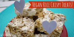 Vegan Rice Crispy Treats for Valentine's Day!