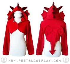 Red dragon handmade hooded shrug. Toothless   https://www.etsy.com/listing/241167927/cute-red-dragon-hooded-shrug?ref=shop_home_active_53