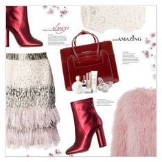 """So Cozy: Winter Boots"" by stranjakivana on Polyvore featuring Matthew Williamson, A.L.C., Charlotte Simone, Jill Stuart, McKleinUSA, Bare Escentuals, Versace, Lipstick Queen and winterboots"