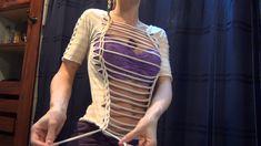 DIY T-Shirt Cutting Tutorial Reconstruction ✂️👙 Jenni Nexus Old T Shirts, Cut Shirts, T Shirt Cutting Tutorial, Shredded Shirt, T Shirt Diy, Jenni, Sew, Halloween, Image