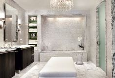 awesome 33 Glam Transitional Bathroom with Marble https://homedecort.com/2017/06/33-glam-transitional-bathroom-marble/