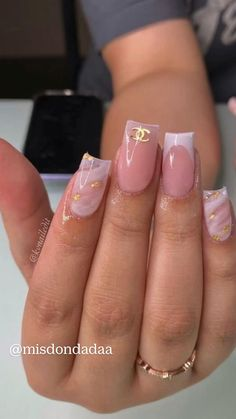 Acrylic Nails Coffin Pink, Short Square Acrylic Nails, Short Square Nails, Short Nails, Coffin Nails, Drip Nails, Acylic Nails, Stylish Nails, Nail Ideas