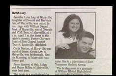 Mr. & Mrs. Best-Lay. | 15 Wedding Announcements From Couples With Deeply Unfortunate Names