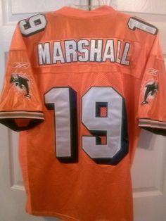 97b10c757 ... Miami Authentic MIAMI DOLPHINS 19 BRANDON MARSHALL NFL JERSEY SEWN  REEBOK MENS