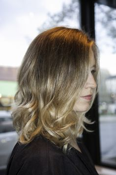 long bob, ombre, Paula Mendes @ Icon Salon Newton Center