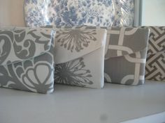 Custom Set of (4) / Design Your Own / The New Jenna Clutch / Perfect for your Bridesmaids. $76.00, via Etsy.