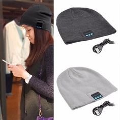 Wireless Bluetooth Hat Winter Warm Beanies With V3.0+ EDR Bluetooth Music Hat Skullies Unisex Cool Knitted Cap //Price: $12.94      #FirstDayOfSummer
