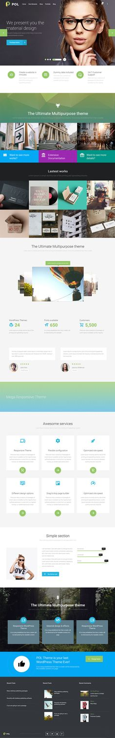Modern WordPress themes fastest, clean and responsive WordPress themes. coded and SEO ready themes. templates and themes can be used for any Creative Web Design, Ux Design, Design Ideas, Top Wordpress Themes, Wordpress Plugins, Amazing Website Designs, Mobile Web Design, Best Templates, Wordpress Template