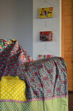 große baumwoll-zick-zack-tagesdecke/Überwurf für sofa/sessel, Hause deko