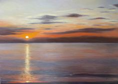 Indian sunset - painting by Francesca Licchelli  #art#paintings #seascape #sunset Dipinto originale - olio su tela - misure: 70 x 50 cm. - anno: 2014