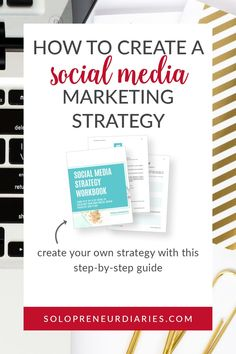 Do you struggle with how to promote your solopreneur business on social media? Get your step-by-step guide to creating your own social media strategy & plan.| Blogging Tips | Social Media Marketing #business #socialmedia