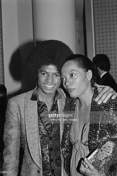 Diana Ross and Michael Jackson at a premiere party for the opening of The Wiz in Century City in Los Angeles, California on October, 24 1978 Michael Jackson The Wiz, Photos Of Michael Jackson, Jackson Family, Janet Jackson, Diana Ross, Familia Jackson, Lady In My Life, Vintage Black Glamour, Music Pics