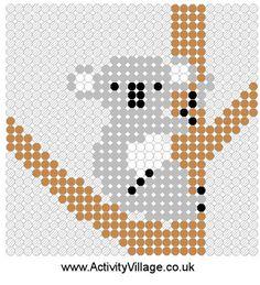 Koala fuse bead pattern