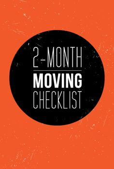 A few of these won't apply to a military PCS move, but still a helpful list. #Moving Checklist ~ @Rita Anderson blog