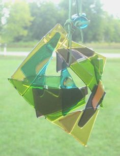My mil will love this! Hey, I found this really awesome Etsy listing at https://www.etsy.com/listing/161503023/sun-catcher-abstract-glass-art-gardener