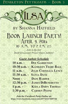 Ilsa Launch Party on Facebook! Come join in the fun 04/09/14! https://www.facebook.com/events/657743217605718/