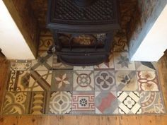 Nice reclaimed floor tile patchwork