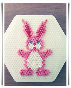 Easter rabbit hama perler by Livets små øyeblikk