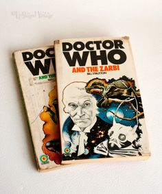 DOCTOR WHO 2 x Target Adventure Novels The Sea Devils & The ZARBI by UpStagedVintage on Etsy