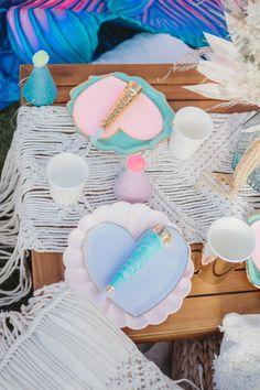 Boho Heart Table Settings from a Boho Mermaid Party on Kara's Party Ideas   KarasPartyIdeas.com (25)